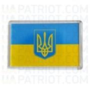 Магніт акриловий Прапор України з тризубом фото