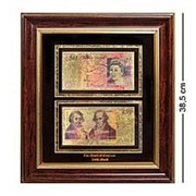 Панно Банкноты 50 GBP (фунт стерлингов) Англия - 2 стороны фото