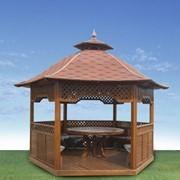 Изготовление деревянных беседок , арок, детских площадок и декоративных колодцев фото