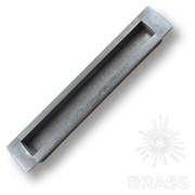 Ручка врезная современная классика, серебро 160 мм EMBU160-63 фото