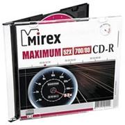 Компакт диск CD-R 700мБ Mirex Максимум тонкие-слим- фото