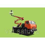 Автовышка коленно-телескопическая 28 м на шасси 4х4 КАМАЗ-4326 фото