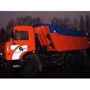 Тенты для накрытия при транспортировке сыпучих грузов фото