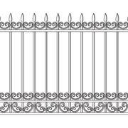Забор кованный фото