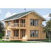 Деревянный дом из оцилиндрованного бревна фото