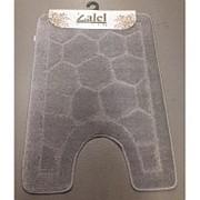 """Коврик для туалета """"Zalel"""" 50х80см (ворс) серый фото"""