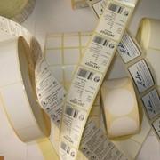 Этикетки самоклеящиеся с нанесением штрих- кода фото