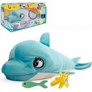 IMC Toys Дельфин BluBlu интерактивный, со звуковыми эффектами, шевелит глазами и ртом, можно его кормить и ул (7031) фото