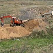 Вывоз и захоронение строительных отходов. фото