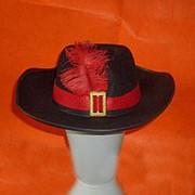 Шляпа дамская с пером 32х10см фото
