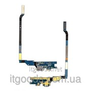 Шлейф (Flat cable) с коннектором зарядки, микрофона для Samsung Galaxy S4 i9505 4477 фото