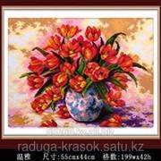 Картина-мозаика стразами Букет маков 50х60 см фото