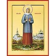 Храм Покрова Богородицы Нина (Лальская) Кузнецова, святая мученица, икона на сусальном золоте (дерево 2 см с ковчегом) Высота иконы 10 см фото