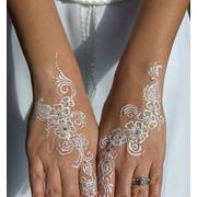Мехенди роспись хной рук на корпоративе, свадьбе, презентации фото