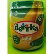 """Пюре из банана для детского питания ТМ """"DETTKA"""" фото"""