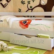 Кровать детская Амели 90*190 (Натуральное дерево) фото