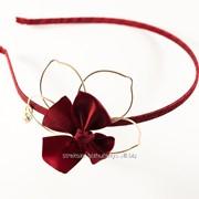 Обруч металлический оплетенный тканью ''Цветок'' 212181 фото