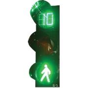 Светофор пешеходный СД П1.1-С - Т, 3-х секционный D=200мм с табло отсчета времени фото