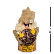 DO-034 Домовой Василек на сундуке с рублем фото