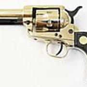Сигнальный револьвер Colt Peacemaker M1873, хром фото
