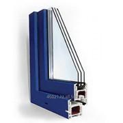 Профиль квадрат 60*60 серии STARTEC 3-х камерный синий фото