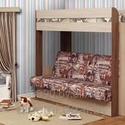 """Кровать двухярусная с диван-кроватью """"Немо"""" фото"""