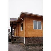 Дома панельные деревянные, заказать строительство деревянного дома под ключ фото