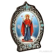 Икона из ювелирного сплава Божией Матери Нерушимая стена в позолоте 2.78.0976лп фото