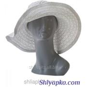 Шляпа женская белая с камнями 38/108-1 фото