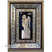 Икона Ангел-хранитель С Серебром И Позолотой Код товара ОСФ-САХ-04 фото