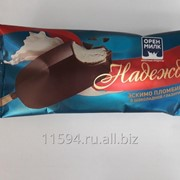 Мороженое эскимо пломбир ванильный в шоколадной глазури «Надежда» фото