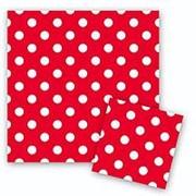 Салфетки Горошек Красный 33см X 33см фото