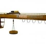 Кран мостовой двухбалочный специальный магнитный г/п 16 т . фото