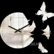 Зеркальные часы Порхающие бабочки 2 фото