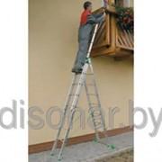 Трехсекционная лестница 10 ступеней 7610 фото
