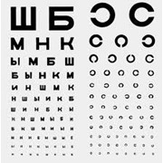 Определение остроты зрения фото