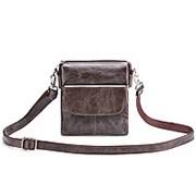 """Кожаная сумка """"Вуди"""" (тёмно-коричневый антик) фото"""