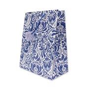 """Пакет подарочный ламинированный """"Синие узоры"""", 26х14х33см (MILAND) фото"""