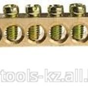 Шина Светозар нулевая на 2-х угловых изоляторах, ток 100А, 5,2мм, 6 полюсов Код: 49808-06 фото
