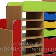 Стеллаж детский с выдвижными ящиками, 23868 фото