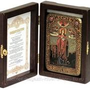 Настольная икона Святая великомученица Варвара Илиопольская на мореном дубе фото