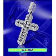 Крест золотой с фианитами фото