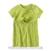 Вязаное платье на 12-18 месяцев фото