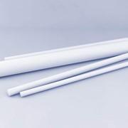Стержни фторопластовые вертикального прессования 40 мм., Стержни фторопластовые 40 мм., Фторопласты фото