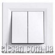 Asfora EPH0300121 выключатель двухклавишный белый фото