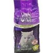 Комкующийся наполнитель Van Cat Lavender без пыли с ароматом Лаванды, 15 кг. фото