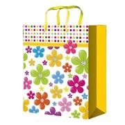 """Пакет подарочный ламинированный """"Яркие цветы"""", 26х14х33см, (MILAND) фото"""