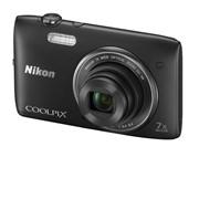 Цифровой фотоаппарат Nikon COOLPIX S3500 Black (черный + чехол) фото