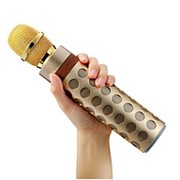 Беспроводной микрофон-караоке с встроенной колонкой Palm KTV X602 (K8) (золото) фото