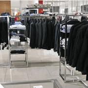 Торговое оборудование для магазинов одежды, стойки для одежды, стойки торговые, торговое оборудование фото